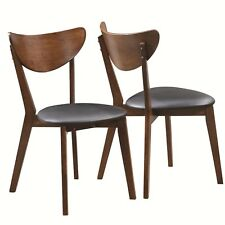 Malone Dark Walnut Dining Side Chair by Coaster 105362 - Set of 4