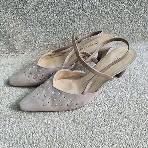 Peter Kaiser Swarovski Elements Ladies Shoes Leather Size 5