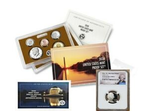 """2020 PROOF SET with FIRST """"W"""" MINT NICKEL - NGC PF69UC, PORTRAIT LABEL"""