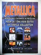 PUBLICITE-ADVERTISING :  METALLICA  2001 pour les éditions vinyles 2001