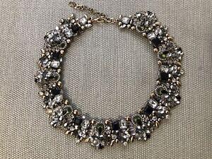Beautiful New Black And Gold Zara Gems Statement Necklace
