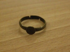 Great quality ring blanks with pad in antique gold x10 rings UK seller OS49