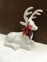 White Ceramic Reindeer For Decorations