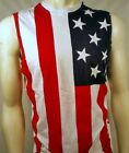 USA AMERICAN FLAG PATRIOTIC 4TH OF JULY AMERICA MUSCLE TANK TOP SHIRT