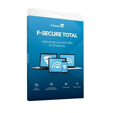 F-Secure TOTAL Internet Security & VPN - 1 Year Licence, 5 Devices, Retail Boxed