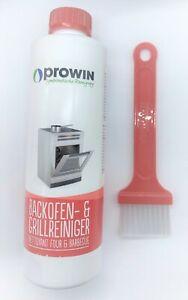 Prowin Backofen- & Grillreiniger 500 ml mit Pinsel breit in rot, NEU