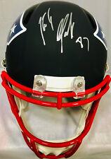 Patriots Rob Gronkowski Signed FS Black Replica Riddell Helmet - BAS Beckett