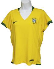 VINTAGE NIKE BRASIL DE MUJER Fútbol Camisa Home Amarillo Canario XL