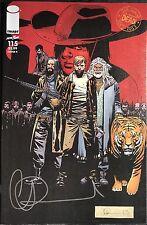IMAGE COMICS THE WALKING DEAD #115 COVER K SIGNED BY CHARLIE ADLARD W/COA