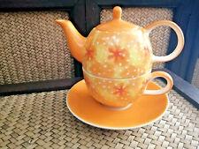 TAZZA Incl FILTRO tè E COPERCHIO TAZZA IN CERAMICA BIANCO tè stoviglie CUP TAZZA POT