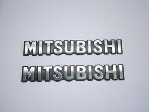 1987-1996 Mitsubishi Mighty Max Badge Emblem Logo Fender Side OEM Chrome 87-96