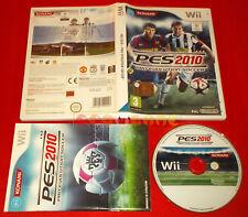 PRO EVOLUTION SOCCER 2010 PES Nintendo Wii Versione Italiana 1ª Ed ○ USATO - GC