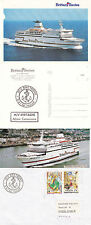 French Ferry Mv Bretagne A Ships Cached Cover Postcard & Picture