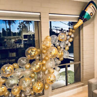 Bouteille de champagne ballons confettis latex balloon mariage noël décor BR