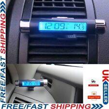 Black Car Dashboard Digital LCD Blue Backlight Thermometer Clock Time Calendar