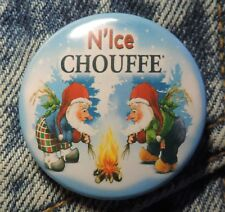 Pin Button Badge Ø38mm  La chouffe bière N'Ice ( 3 )