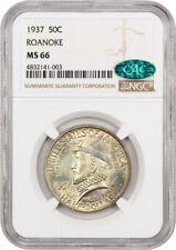1937 Roanoke 50c NGC/CAC MS66 - Silver Classic Commemorative