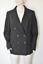 MARINA RINALDI, Black Stretch Wool Blazer, Size 25 MR, 16W US, 46 DE, 54 IT