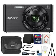 Sony DSC-W830 20.1MP Point and Shoot Digital Camera (Black) + 16GB Accessory Kit