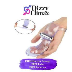 Silicone Finger Sleeve Massager Massage Vibrating