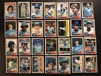 1981 Topps KANSAS CITY Royals COMPLETE Team SET George BRETT Willie WILSON ALCS
