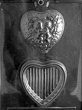 KISSING CUPIDS HEART POUR BOX V108 mold Chocolate Candy soap making valentine
