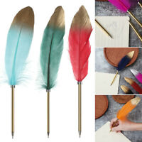 Smooth Novelty Stationery Feather Pen Signature Writing Tool Ballpoint Pens