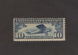 Scott C10 - Lindbergh Tribute. Airmail. 10 Cent Single.  MLH. OG.   #02 C10a