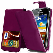 Schutzhülle f Samsung Galaxy Ace 3 S7270 Leder-Imitat Flip Case Cover lila