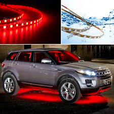 Universal 4x Red LED Strip Under Car Underglow Underbody System Neon Light Kit Q