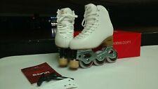 Youth Inline Figure Skate Snow White Frame Edea Boot like pic skate Size 210