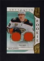 2019-20 UD Artifacts Base Gold Jersey Relic #164 Max Jones /499