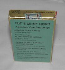 Vintage 1956 Brown & Bigelow Playing Cards Pratt & Whitney Aircraft Adv Mib