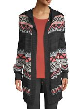No Boundaries Juniors' Tribal-Inspired Open Front Cardigan size XS (1)