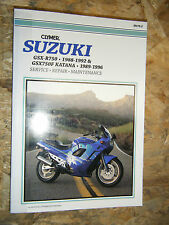 1988-96 SUZUKI GSX-R750 GSX750F KATANA CLYMER SERVICE MANUAL REPAIR MAINTENANCE