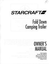 1996 Starcraft Folding Camping Popup Trailer Owners Manual