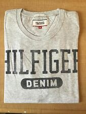 Mens Tommy Hilfiger Cotton T-Shirt Grey Short Sleeve Size-Large RRP £48