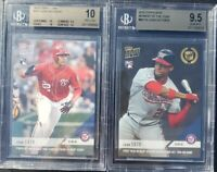 Juan Soto Topps Now RC Rookie BGS 10 Pristine and BGS 9.5 card lot
