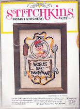 Crewel Embroidery Kit:  World's Best Handyman 5 x 7 Can be Personalized