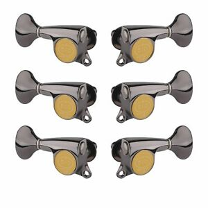 Gotoh Mini 510 3+3 Tuners with Metal Knobs, Cosmo black