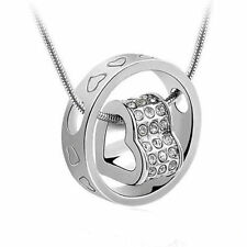 2014 New Fashion white Forever Love Pendant Necklace Use Swarovski Crystal