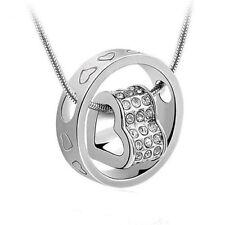 2014 New Fashion white Forever Love Pendant Necklace Use Swarovski Crystal