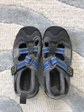NEW BALANCE grey/blue KD552 closed toe hook & loop toddler sandal