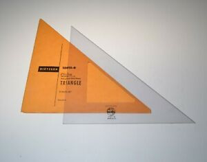 """Vintage Dietzgen Globe 8"""" 45 Degree Drafting Triangle 12015-8 Made In USA"""