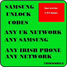 SAMSUNG UNLOCK CODES  - VODAFONE, METEOR, THREE, EIR, O2 - IRELAND - ALL  MODELS