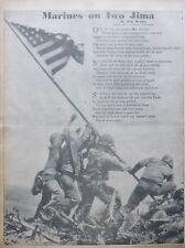 MARINES ON IWO JIMA - BROOKS ROSENTHAL 3-1945 WWII March 14 BALTIMORE NEWS POST