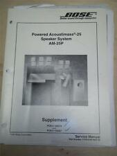 Bose Service Manual~Powered Acoustimass-25 Speaker System/AM-25P~Original