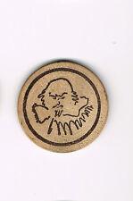 Vintage Wooden Nickel - Shakespeare ? Face Portrait