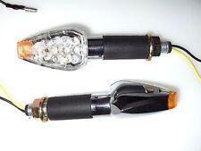 4 LED MOTOCICLETA LUZ DIRECCIONAL lámpara cromada HONDA SUZUKI YAMAHA KTM