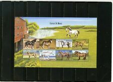 CENTRAL AFRICAN REPUBLIC 1999 FAUNA/HORSES SHEET OF 8 STAMPS MNH